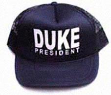 DAVID DUKE FOR PRESIDENT HAT